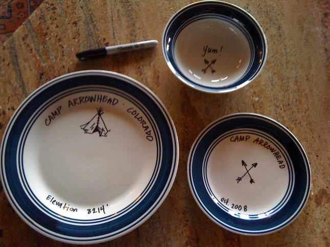 cabin design dinnerware